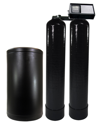 Fleck 9100SXT Twin Water Softener System 48K Total Grains, Tanks Ship Loaded, Free Shipping